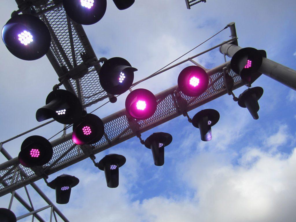 Signals lights on